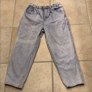Jordache high waisted vintage jeans 10 Acid washed